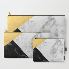 Marble & Gold Collage Carry-All Pouch