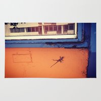 puerto rico Area & Throw Rugs featuring Lizard in Puerto Rico by ANoelleJay