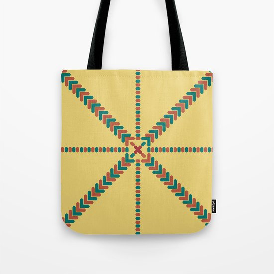 X Marks the Center Tote Bag
