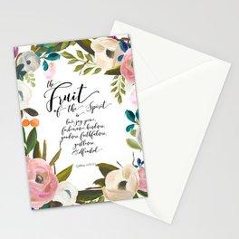 Fruit of the Spirit, blush pink floral palette Stationery Cards