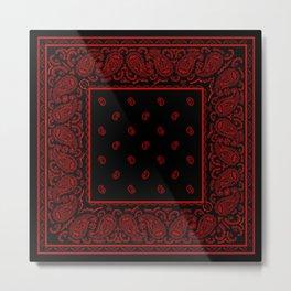 Classic Black and Red Bandana Metal Print