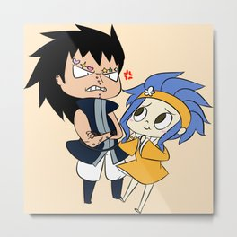 Gajevy (Gajeel and Levy) Metal Print