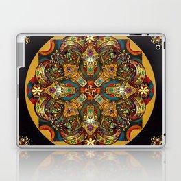 Mandala Sacred Rams - Dark Version Laptop & iPad Skin