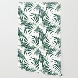 Green Palm Leaves Dream #2 #tropical #decor #art #society6 Wallpaper