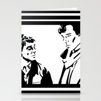 johnlock Stationery Cards featuring Simple Sherlock by gottalovedrawing