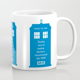Hands of our NHS doctor Who style Coffee Mug