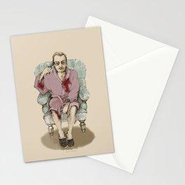 In bathrobe Stationery Cards