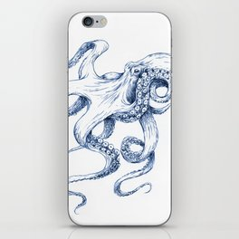 Blue Octopus iPhone Skin