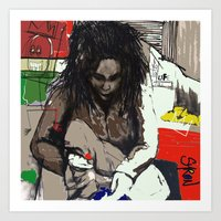 basquiat Art Prints featuring Basquiat by Helen Syron
