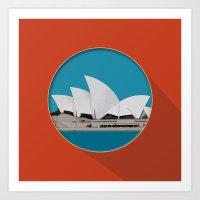 sydney Art Prints featuring Sydney by Matthias Hennig