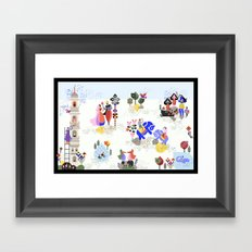 Indian miniature interpreted Framed Art Print