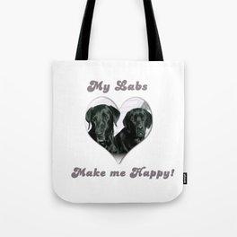 "Lab Love ""My Labs Make me Happy"" Tote Bag"