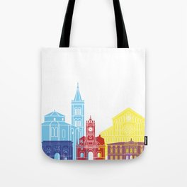Zadar skyline pop Tote Bag