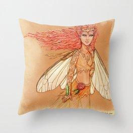Silkworm Couture Throw Pillow