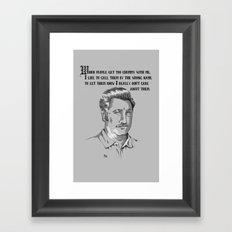 Not Friends Framed Art Print