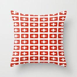 flag of Switzerland -,Swiss,Schweizer, Suisse,Helvetic,zurich,geneva,bern,godard,heidi Throw Pillow