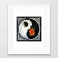 yin yang Framed Art Prints featuring Yin Yang by Liz Moran