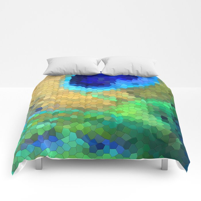 abstract peacock Comforters