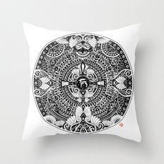 deer mandala Throw Pillow