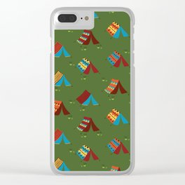 Boho Camping Tents Clear iPhone Case