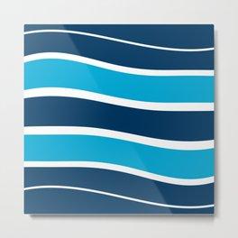 Blue Striations Metal Print