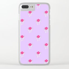 Holy orchid pattern Clear iPhone Case