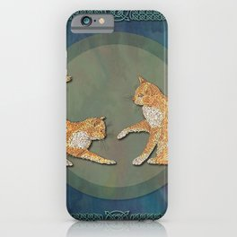 Celtic Cats - Ginger Cats iPhone Case