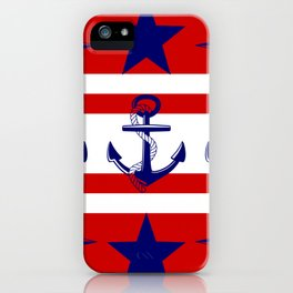 Nautical Red iPhone Case