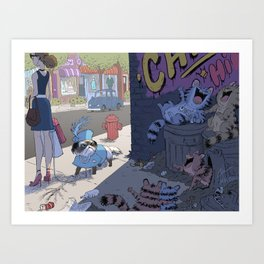 """Laughing Furball"" Art Print"