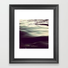 winter waters Framed Art Print