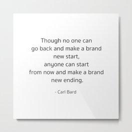Starting – Carl Bard Metal Print
