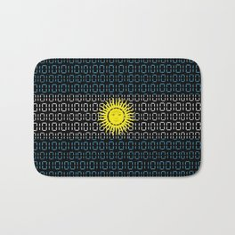 digital Flag (Argentina) Bath Mat