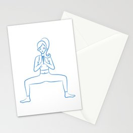 Cool and Cute heavily meditated Yoga Yogi Design Stationery Cards