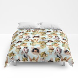 Vintage Angels on High Original Collage Comforters