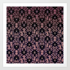 PAISLEY PATTERN IN PINK Art Print