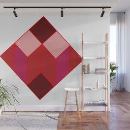 Dear white cube, Red spectrum Wall Mural