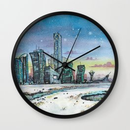 Astana and Winter Wall Clock