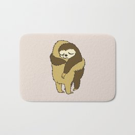 Sloth Hugs Bath Mat