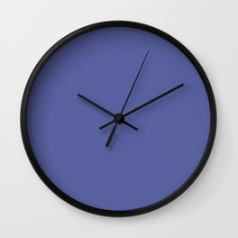 Blue-Purple Solid Color Pantone Iris Bloom 18-3950 Accent to Color of the Year 2021 Wall Clock