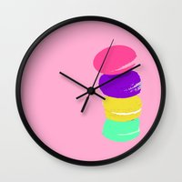 macaron Wall Clocks featuring macaron by myepicass