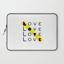 LOVE yourself - others - all animals - our planet Laptop Sleeve