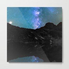 Milky Way Mountain Metal Print
