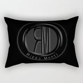 Riggo Monti Design #1 - Riggo Emblem (Blk. Bkgrnd.) Rectangular Pillow