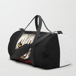 cat clown kittywise vector art Duffle Bag