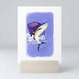 Sea Creatures: Sailfish Mini Art Print