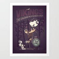 vikings Art Prints featuring Vikings by hugraphic
