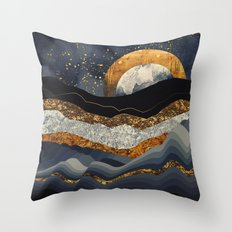 Metallic Mountains Throw Pillow