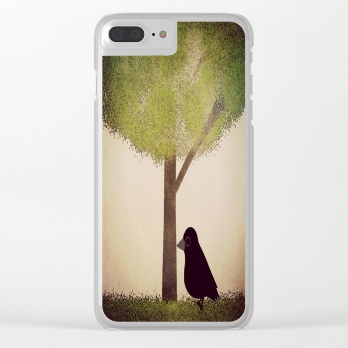 Crow-196 Clear iPhone Case