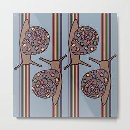rainbow snails 1 Metal Print