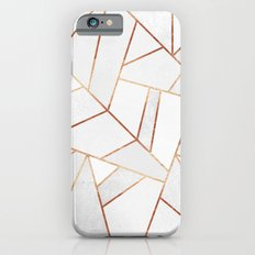 White Stone & Copper Lines Slim Case iPhone 6s